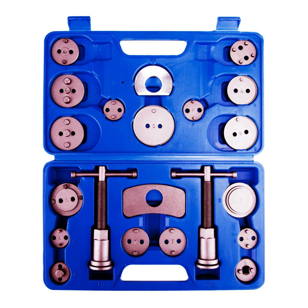 Orion Motor Tech 21-Piece Universal Disc Brake Caliper Piston Compressor Wind Back Repair Tool Kit f